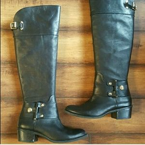 Vince Camuto Broohlee black riding boots